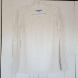 Antonio Melani cream colored top, size medium